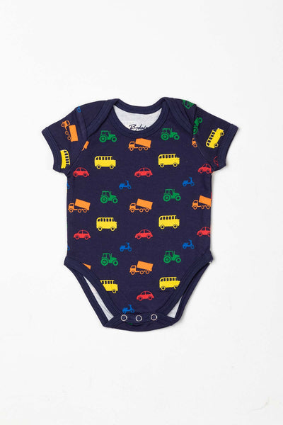 Automobile Navy - Baby Bodysuits (2 Pack)