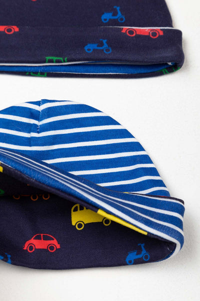 Automobile Navy - Baby Hats (2 Pack)