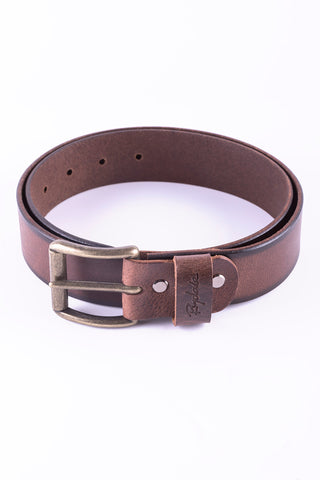 Brown - Bailey Edge Leather Belt