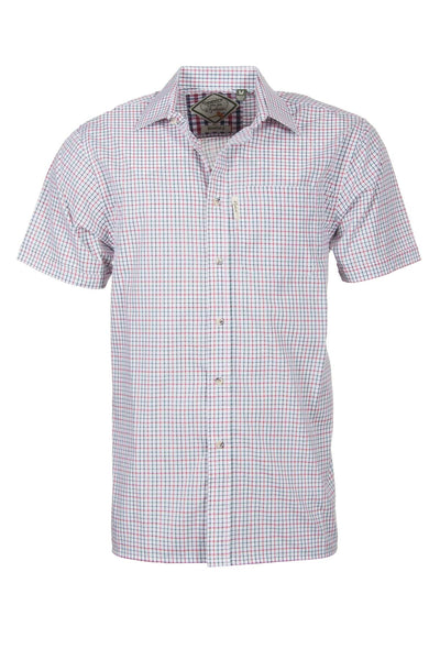 Beeford Red - Mens Easy Care Short Sleeved Shirt
