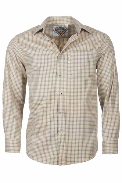 Poacher Beige - Mens Graph Check Shirt
