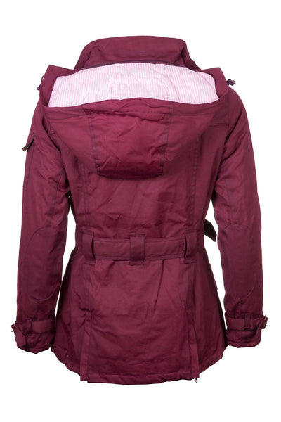 Wine - Belted Wax Biker Babe Jacket