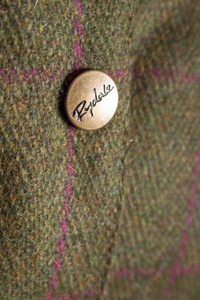 Plum Check - Tweed Belted Coat
