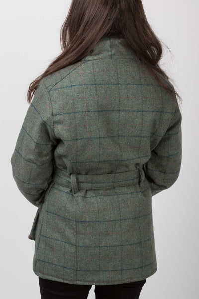 Blue Check - Tweed Belted Coat