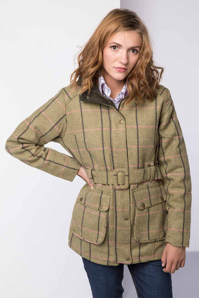 Megan - Tweed Belted Coat
