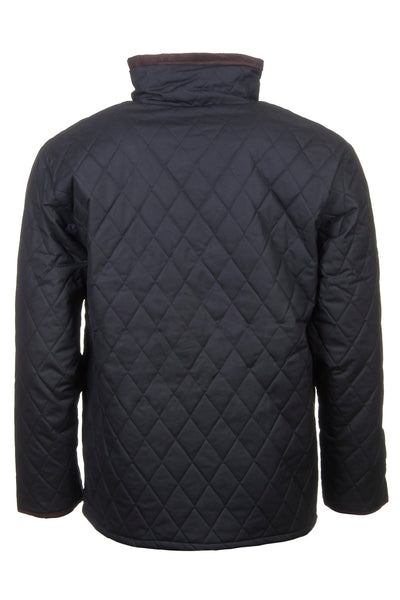 Black - Quilted Wax Cotton Jacket