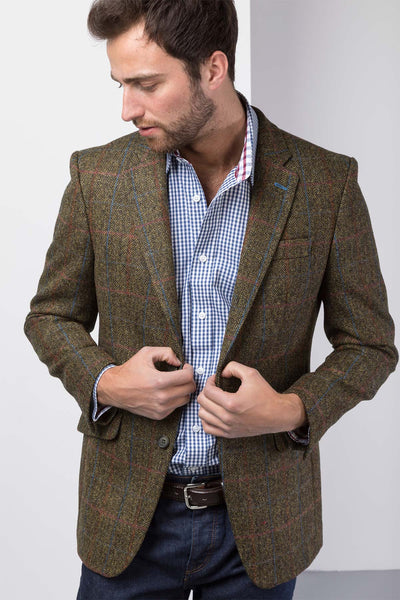 Malton - Slim Fit Tweed Blazer
