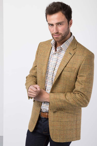 Men's Mustard Tweed Jacket - Market Day