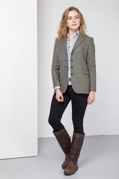 Poppy - Ladies Long Tweed Blazer