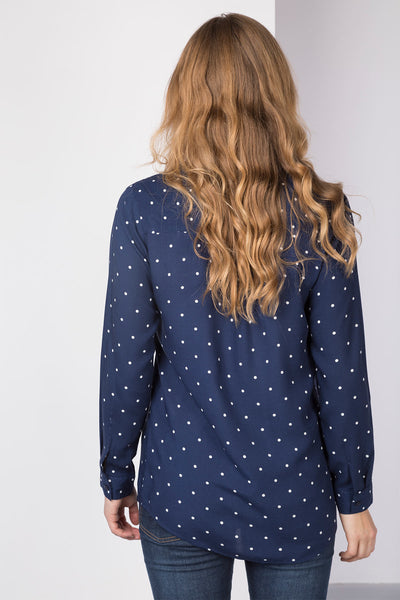 Spotty Navy - Ladies Willow Blouse