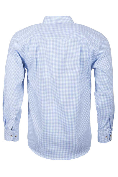 Wetherby Blue - Blue Graph Check Long Sleeved Shirt
