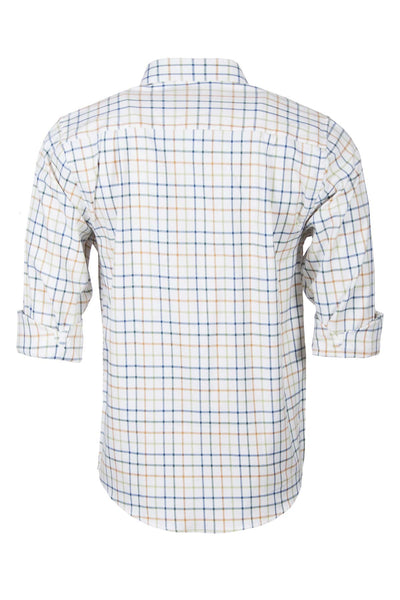 Blue Mix - Long Sleeved Country Check Shirt