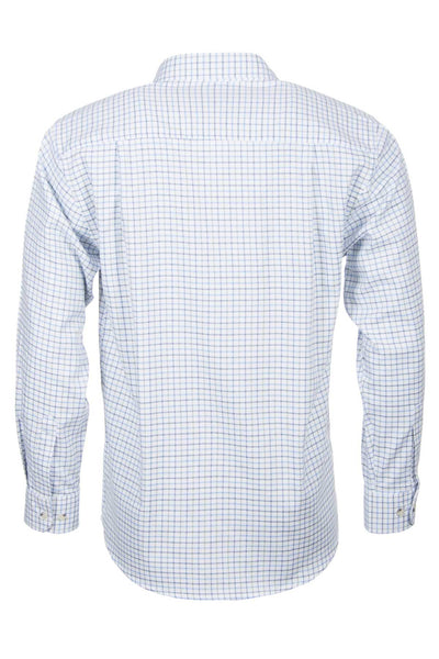 Tattersall Blue - Long Sleeved Cotton Shirts