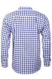 Otley Blue - Mens Long Sleeved Country Check Shirts