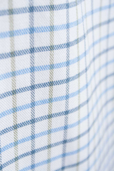 Tattersall Blue - Green and Blue Tattersall Check Shirt