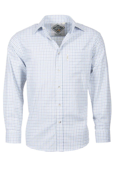 Tattersall Blue - Mens Long Sleeved Check Shirt