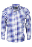 Otley Blue - Mens Colourfull Gingham Style Check Shirt