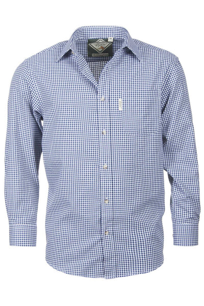 Millington Blue - Classic Long Sleeved Check Shirt