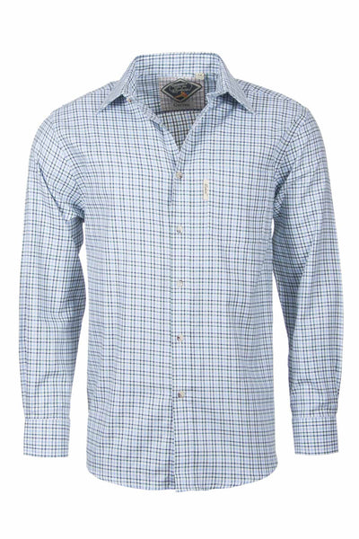 Garton Blue - Mens Cotton Check Shirt