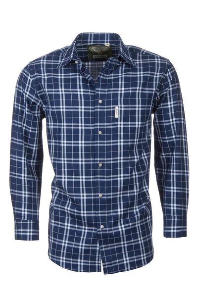 Wetwang Navy - Country Checked Shirts