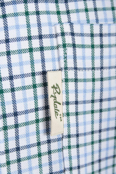 Garton Blue - Long Sleeved Check Shirts