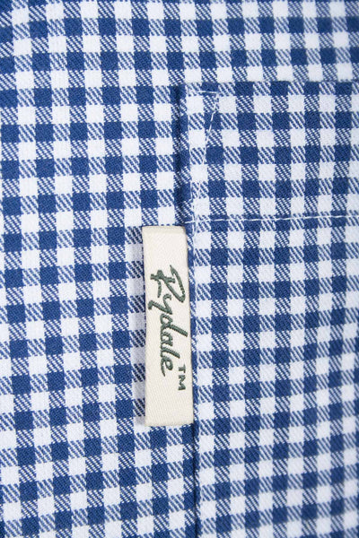 Millington Blue - Mens Rydale Long Sleeved Check Shirts