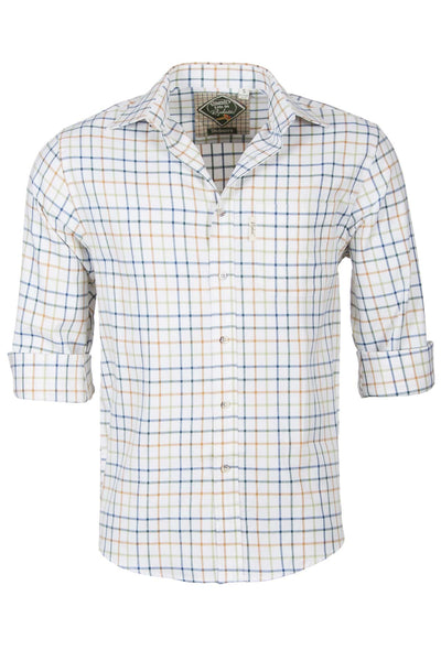Blue Mix - Mens 100% Cotton Long Sleeved Shirt