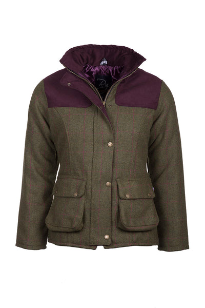 Plum - Ladies Bramham II Tweed Jacket