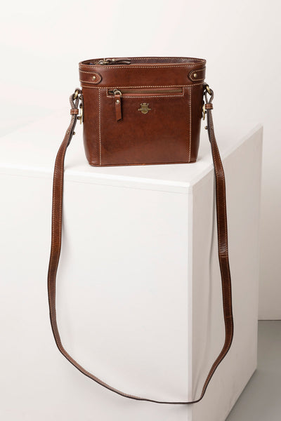 Bramham Leather Boxy Cross Body Bag