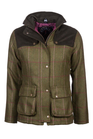 Tweed Trim Quilted Biker Babe Jacket