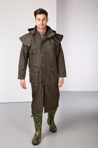 Khaki - Brompton III Full Length Riding Coat
