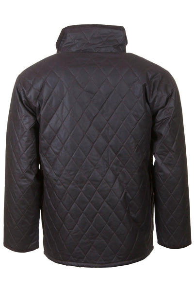 Brown - Quilted Wax Cotton Jacket