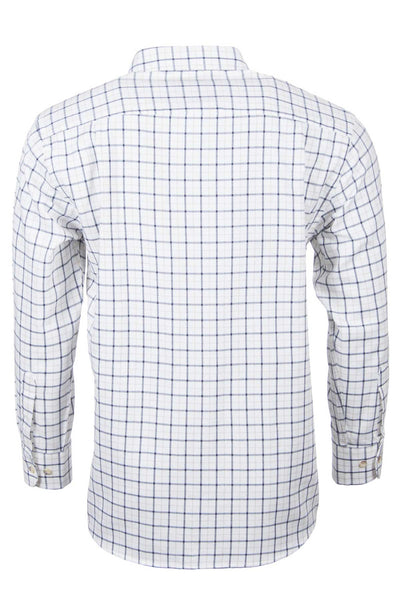 Market Light Brown - Mens Long Sleeved Check Shirts