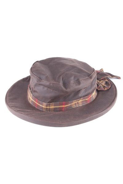 Brown - Ladies Waxed Cotton Dress Hat