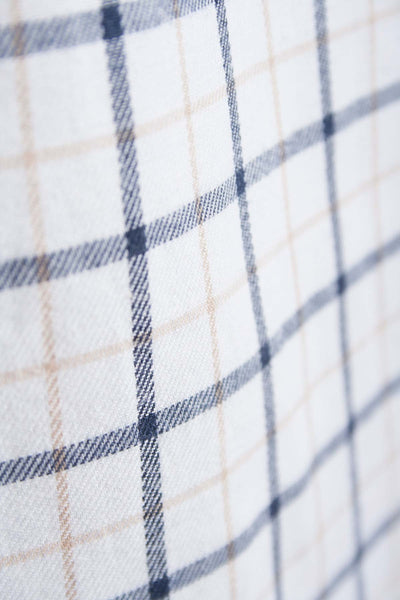 Market Light Brown - White Graph Check Shirt