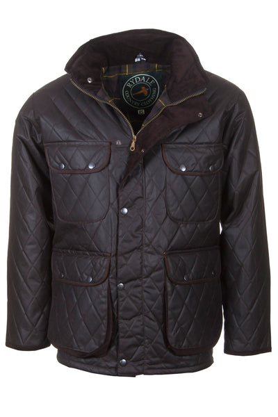 Brown - Diamond Quilted Wax Jacket