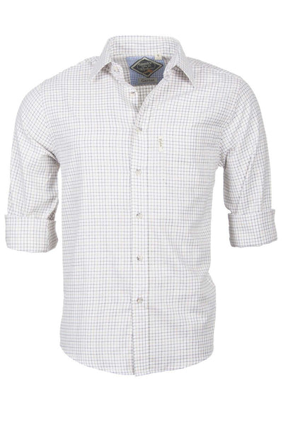 Garton Brown - Mens 100% Cotton Country Check Shirts