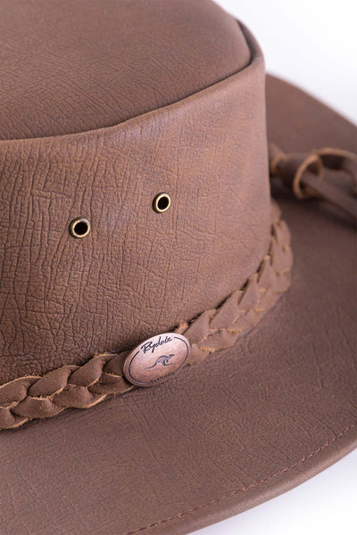 Bulldog Australian Leather Hat