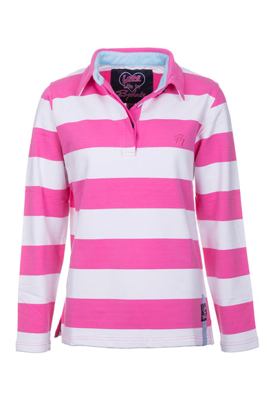 Pinky/White - Broadstripe Collar Sweatshirt