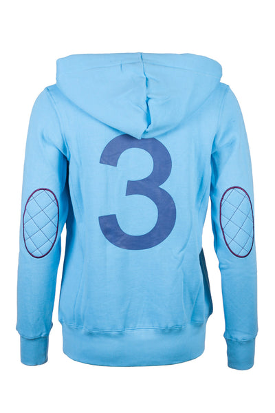 Sky - Button Neck Hoody
