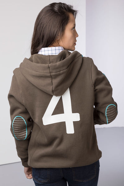 Bark - Ladies Button Neck Numbered Hoody