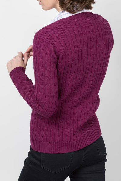 Mulberry - 2016 V Neck Cable Knit Sweater