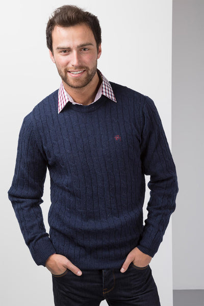 Navy - Mens Classic Crew Neck Sweater