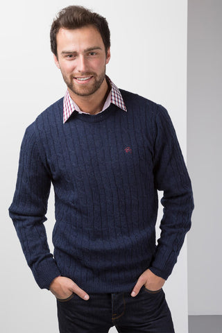 Cable Knit Lambswool Jumper