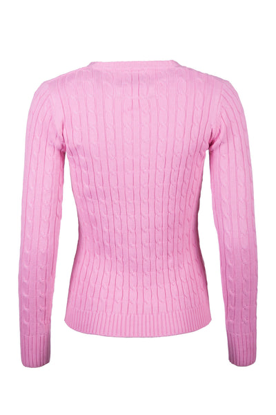 Perfect Pink - 2016 V Neck Cable Knit Sweater