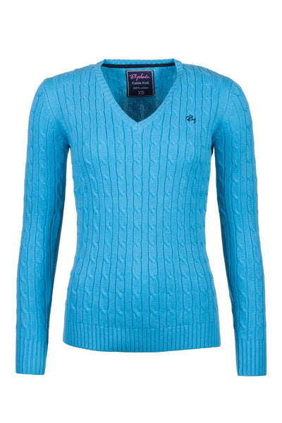 Sky Blue - 2016 V Neck Cable Knit Sweater