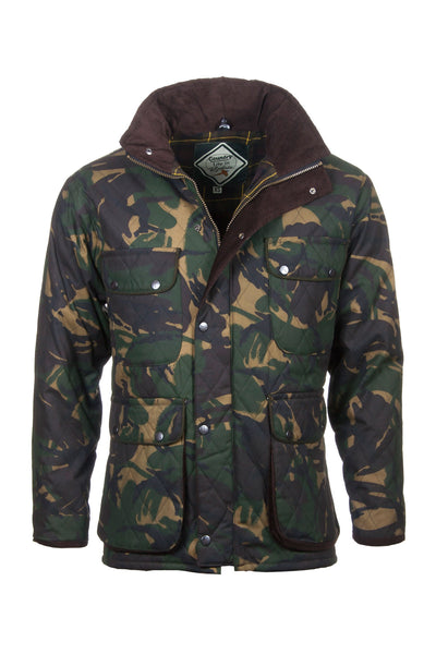 Camo - Diamond Quilted Wax Jacket