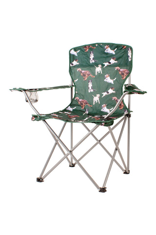Dog Green - Rydale Patterned Camping Chairs