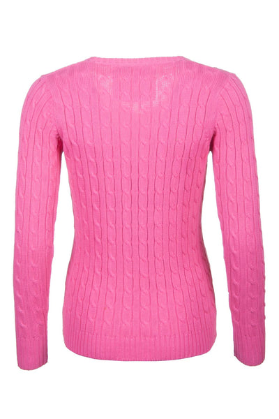 Candy - V Neck Cable Knit Sweater