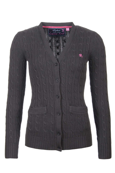 Nearly Black - Rydale Ladies Cable Knit Cardigan